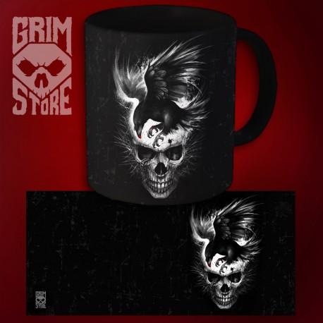 Skull with a Raven - mug 330 ml