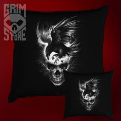 Skull with a Raven - pillow