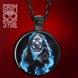 Skull in Blue Flames - jewellery