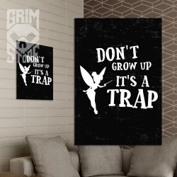 Don't grow up - plakat