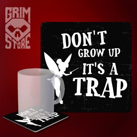 Don't grow up - mug coaster