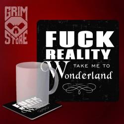 Fuck reality - mug coaster