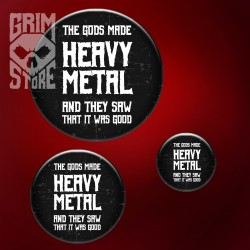 Gods made Heavy Metal - pin
