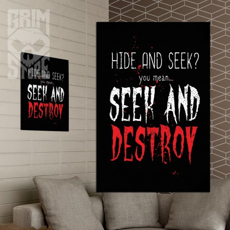 Seek and Destroy - plakat