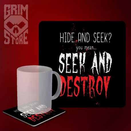 Seek and Destroy - mug coaster