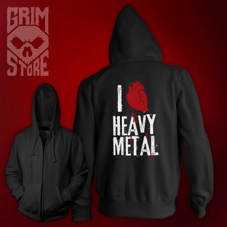 I love Heavy Metal - thin hoodie