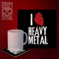 I love Heavy Metal - mug coaster