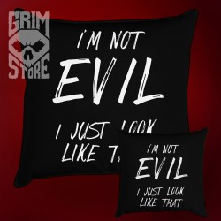 I'm not Evil - pillow