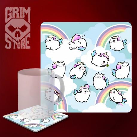 Cute Unicorns - mug coaster
