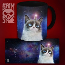 Grumpy Unicorn Cat - mug 330 ml