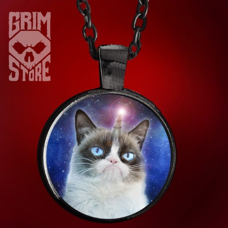 Grumpy Unicorn Cat - jewellery