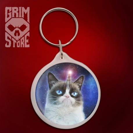 Grumpy kot - Jednorożec - brelok