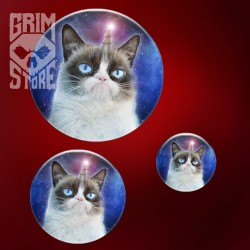 Grumpy Unicorn Cat - pin