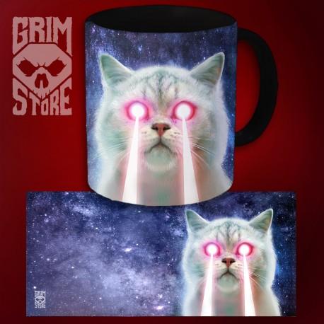 Laserowy kot - kubek 330 ml