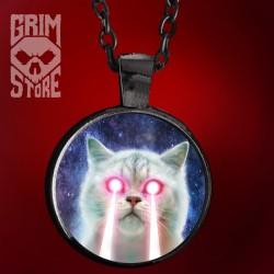 Laserowy kot - biżuteria
