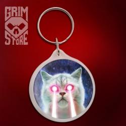 Laserowy kot - brelok