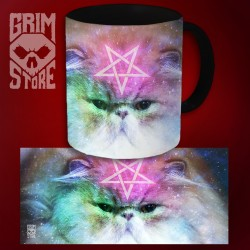 Pentagram Cat - mug 330 ml