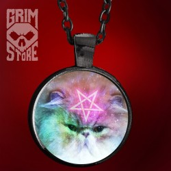 Pentagram Cat - jewellery