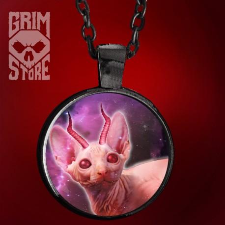Kot z rogami - biżuteria