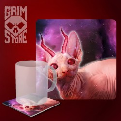 Horned Sphinx - mug coaster