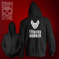 13 is My lucky number - thin hoodie
