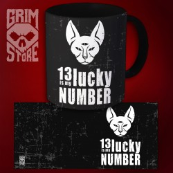 13 is My lucky number - kubek 330 ml