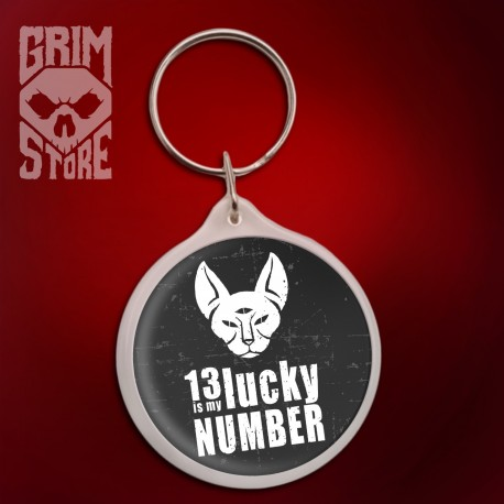 13 is My lucky number - pendant