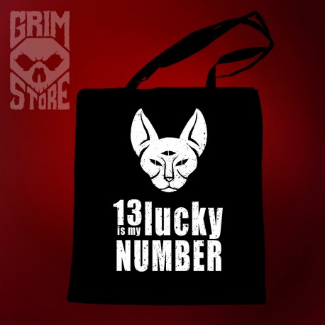 13 is My lucky number - eco bag
