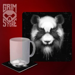 Heavy Metal Panda - mug coaster