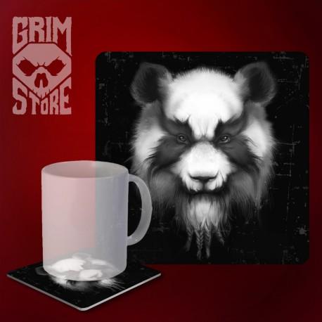 Heavy Metal Panda - mug coaster