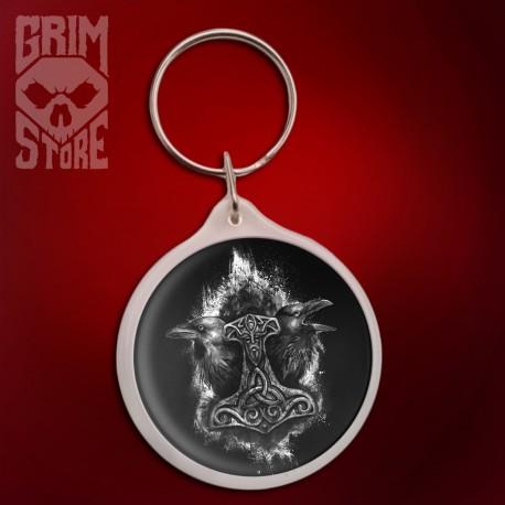 Mjolnir and Ravens - pendant