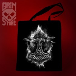 Mjolnir and Ravens - eco bag