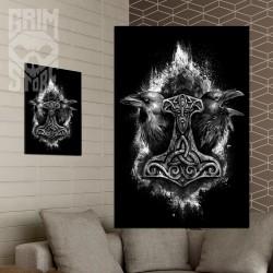Mjolnir and Ravens - poster