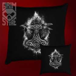 Mjolnir and Ravens - pillow
