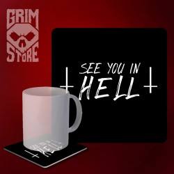 See You in HELL - mug coaster
