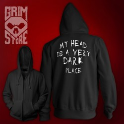 My head is a very dark place - thin hoodie