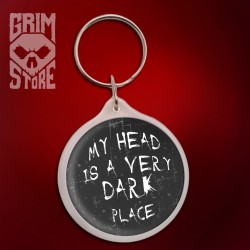 My head is a very dark place - pendant
