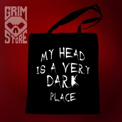 My head is a very dark place - eco bag