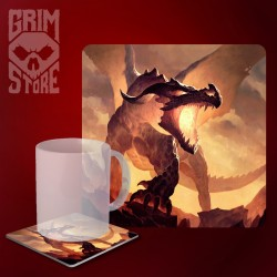 Fire Dragon - mug coaster