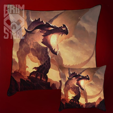 Fire Dragon - pillow