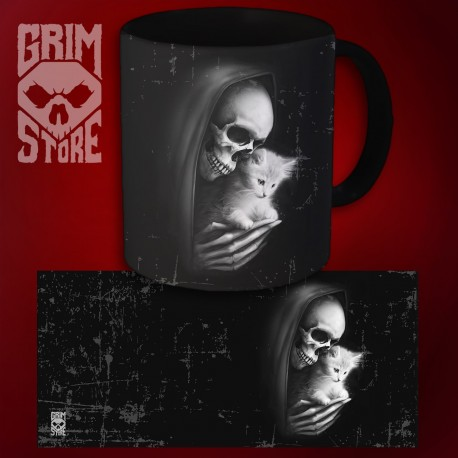 Death with a kitty - mug 330 ml