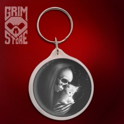 Death with a kitty - pendant
