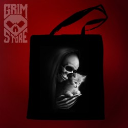 Death with a kitty - eco bag