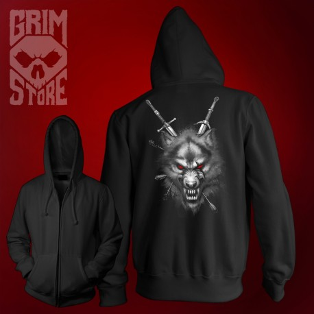 The Witcher wolf - thin hoodie