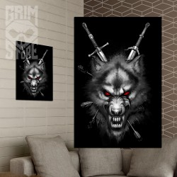 Wilk Wiedźmin - plakat