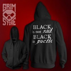 Black is not sad  - thin hoodie