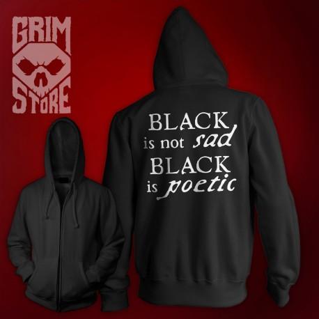 Black is not sad  - thin hoodie