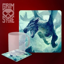 Underwater Dragon - mug coaster