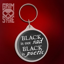 Black is not sad  - pendant