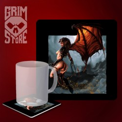 Flying Succubus - mug coaster